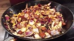 Fry onion and chorizo